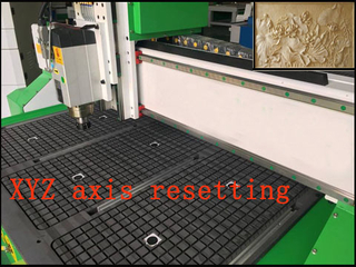 The solutions to reset the the X, Y , Z axis of wood cnc engraver router