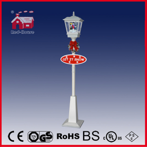 (LV180-3S2-WW) White Christmas Decorative Street Light with Snowman Family Inside
