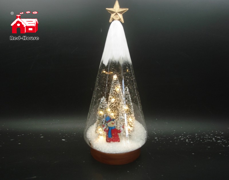 Christmas Decorative Clear Glass Cone Shade with Laser Cut Christmas Scene As Led Home Decoration From Christmas Decoration Supplies