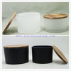 Wholesale Big Mouth Mint Green Unique Candle Jars with Bamboo Lid