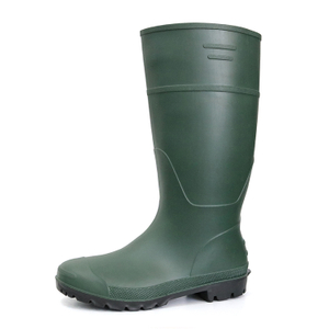 A8-GB green non safety matte pvc work rain boot for men