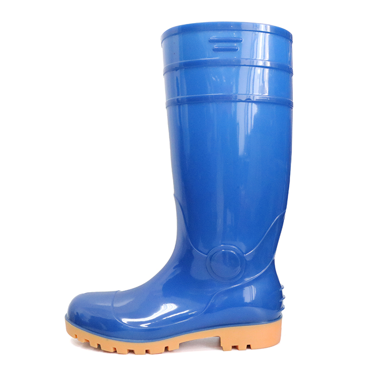 F30BY lightweight steel toe cap pvc glitter safety rain boots S5