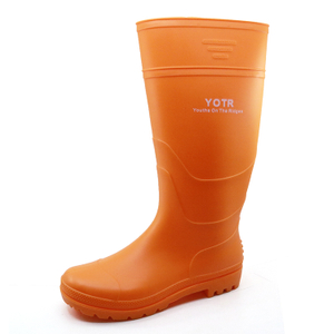 China cheap non safety lightweight pvc rain boots