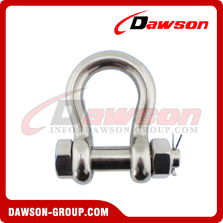 Stainless Steel G2130 US Security Type Bow Shackle, AISI304 Bow Shackle