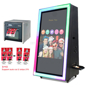 2019latest Model 55 Inch Portable Photo Booth Selfie Photo Booth, Magic Mirror