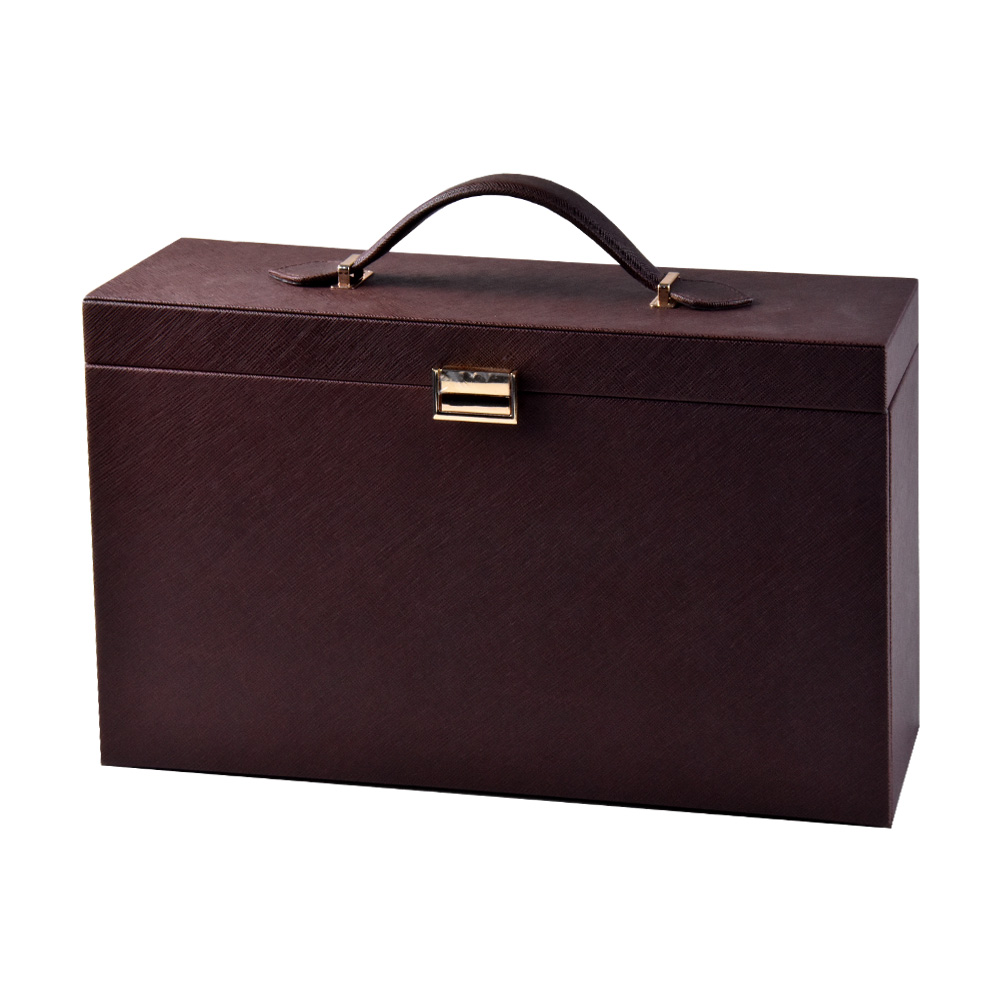 Wine Box Manufacturer Brown PU leather sunglasses box