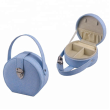 Portable Luxury Leather Small Jewelry Box Ring Packaging Box