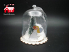 Christmas Glass Decoration in Dome Shape with Scene inside Led Power by Button Batteries