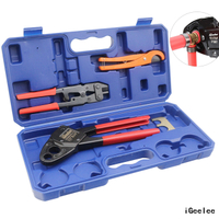 "IGeelee Combo Angle Head PEX Pipe Crimper Kit for 1/2"" & 3/4"" for All US F1807 Standards Copper Rings"