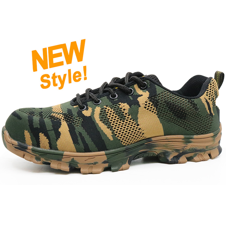 RB1090 camouflage fashion sport safety shoes with steel toe cap