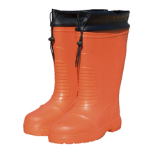 JW-306 freeze cold storage non slip plastic toe cap 100% EVA rain boots for men