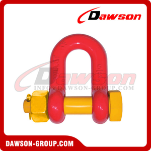 DS757 G8 Bolt Type Alloy Dee Shackle for Lifting, Chain Shackle with Safety Pin