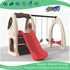 Outdoor Children Play Plastic Swing With Slide Playground (ML-2011401)