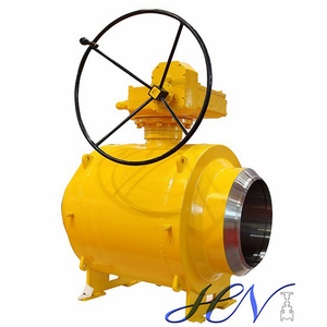 Industrial High Pressure Gear Operated Fully Welded Body Ball Valve
