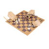 Custom Chess Board Game Roll-up Leather Suede Backgammon Set