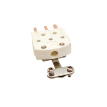 Three pins connector with metal clamp ZZ-M10C