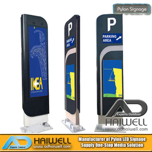 China Supplier Outdoor Street Furniture Digital Parking Pylon Signage