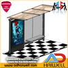 City Bus Stop Shelter with Mupi Side Advertising Light Box
