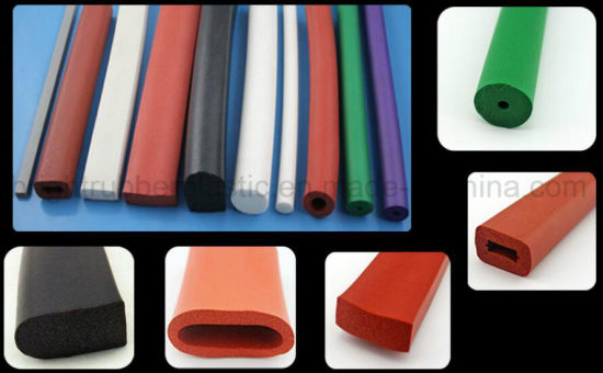 Rubber Molded Extruded Silicone Products Customized