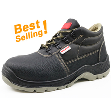 EU001 black leather CE steel toe cap europe safety shoes