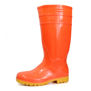 F30RY water resistant steel toe cap shiny safety rain boot pvc