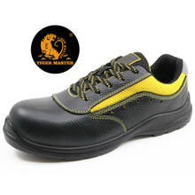 Black buffalo leather composite toe metal free safety work shoes