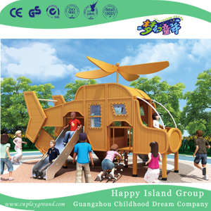 Outdoor Mini Aircraft With Slide Wooden Playground (HHK-4601)