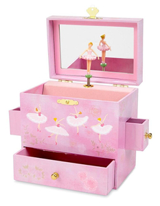 Popular Wooden Musical Jewelry Display Box With Beautiful Figure Jewelry Music Box