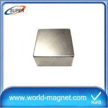 Excellent Permanent N45 Sintered Nickel Block Neodymium Magnet