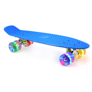 "M Merkapa 22"" Complete Skateboard with Colorful LED Light Up Wheels for Beginners"