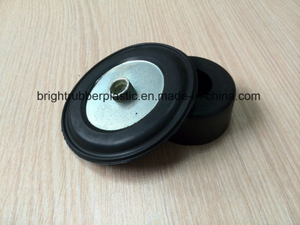 Black Coated Iron Shock Absorber Rubber Sheet, ISO9001