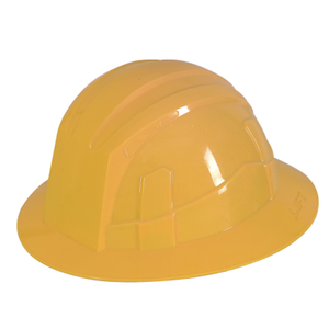 Yellow HDPE Full Brim Ventilation Holes Labor Construction Safety Helmet