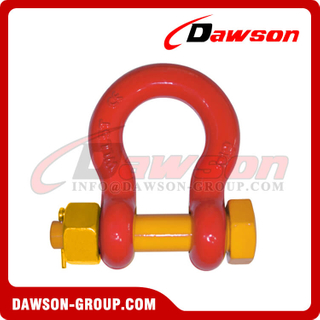 DS756 G8 Bolt Type Alloy Bow Shackle, Anchor Shackle with Safety Pin