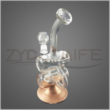 Glass Water Pipe for Double Layer Filter Smoking Pipe
