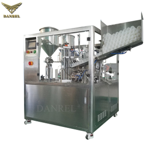 Ultrasonic High Speed Automatic Plastic Double Chamber Tube Filling And Sealing Machine, Dual Tube Filler Sealer超音波子母管灌裝封尾機