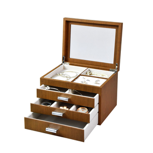 2020 Chinese Luxury Multi-layer Wood Grain Leather Jewelry Display Box