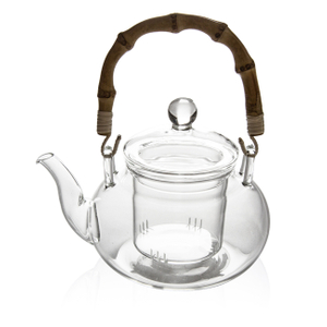 GTP0308 Glass Teapot with Bamboo Handle