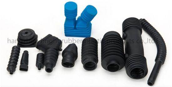 Customized Black Flexible Silicone Molded Rubber Bellows