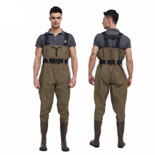 Men Nylon PVC Water Proof Adult Fishing Chest Wader with Pvc Work Boots