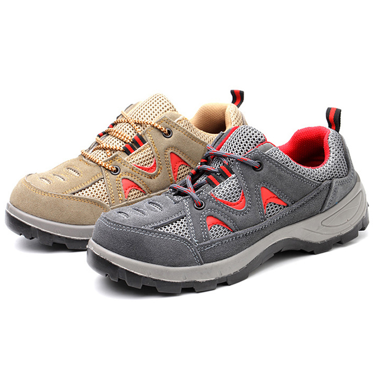 Oil slip resistant deltaplus sole steel toe cap breathable safety shoes sport