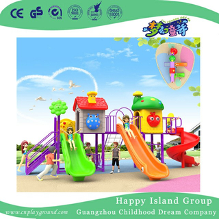 Amusement Park Cartoon House Children Playground With Climbing (BBE-A32)