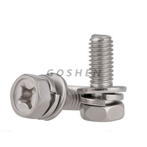 Stainless Steel Phillips Hex Head Screw Flat/Split Washer SEM Screw