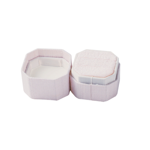 Wholesale Luxury Octagon Cloth Ring Box with Custom Logo for Wedding