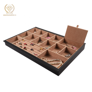 Luxury popular portable PU leather jewelry tray organizer for display