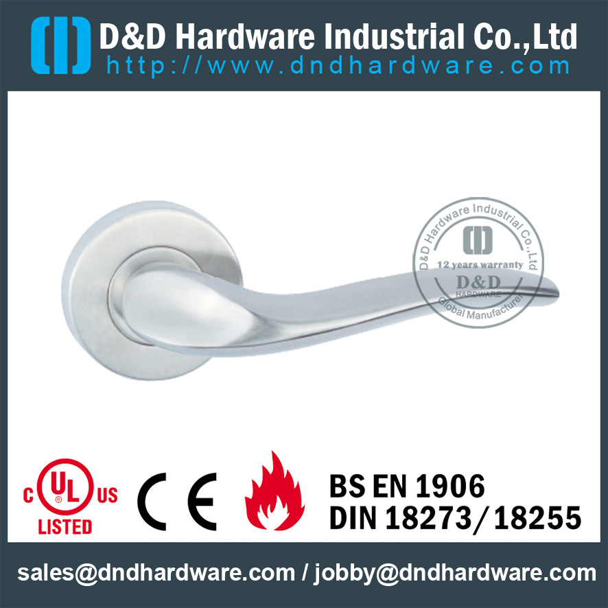 Stainless Steel Bent Popular Design Solid Door Handle For External Door   DDSH131