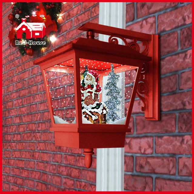 (LW40045A-R) Santa Claus Chimney Decorations Christmas Wall Light for Home