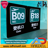 Airport Signs Aluminum Acrylic Led Directional Signage