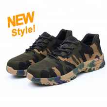 SP008 waterproof anti static steel toe camouflage army safety shoes
