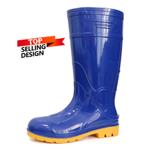 107-BY oil acid resistant waterproof steel toe cap pvc safety gumboots