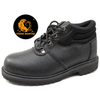 GY009 black steel toe cap goodyear welted safety shoes boots